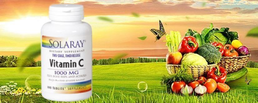 Vitamina c 1000mg solaray