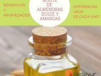 Diferencias del Aceite de almendra DULCE Y AMARGA